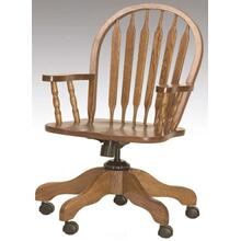 Arrowback Arm Desk Chair Solid Oak