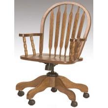 See Details - Arrowback Arm Desk Chair Solid Oak
