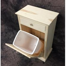 Maine Made Trash Bin With Can Single 21W X 36H X 16D Pine Unfinished