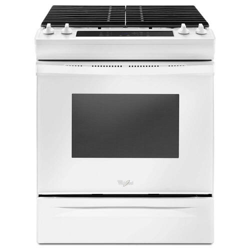 Whirlpool 5.0CF White Gas Slide In Range with Self Clean