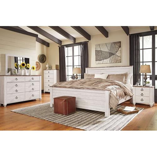 B267 Queen Bed, Dresser & Mirror, Chest (Night Stand NOT included)