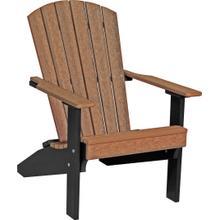 Lakeside Adirondack Chair Premium Antique Mahogany and Black