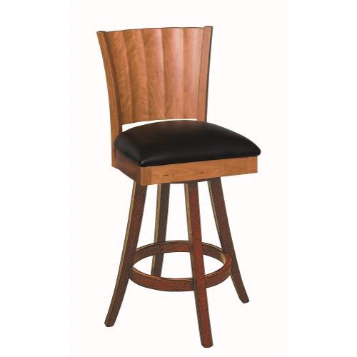 Amish Furniture - Rippleback Swivel Stool
