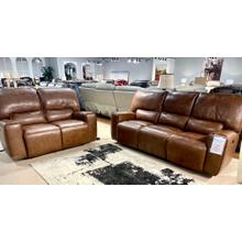See Details - Sanibel Whiskey Leather Power Reclining Sofa & Loveseat