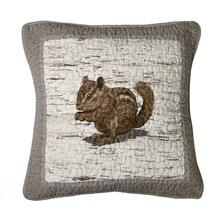 "Birch Forest ""Chipmunk"" Throw Pillow"