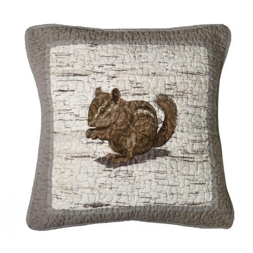 """Birch Forest """"Chipmunk"""" Throw Pillow"""