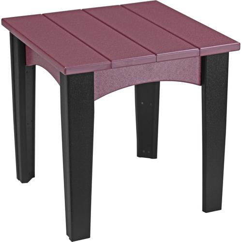 Island End Table Cherry and Black