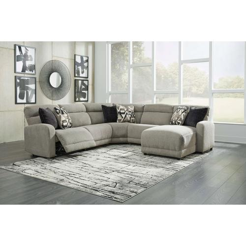 Colleyville  Stone  1 Power Recliner Sectional with Right Facing Power Chaise