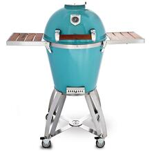 "22"" Caliber Pro Kamado Grill/Smoker (Powdercoated Turquoise with Hardwood Cherry Handle)"