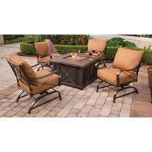 Summer Night 5-Piece Gas Fire Pit Set
