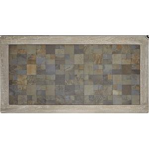 Null Furniture Inc - Sofa/Media Console in a distressed Acorn finish      (9918-09,52987)