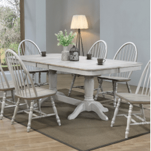 7 Piece Set (Trestle Table and 6 Chairs)