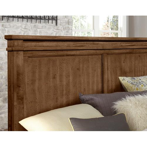 Vaughan-Bassett - King Cool Rustic Mansion Bed w/ Single Side Storage - Amber Finish