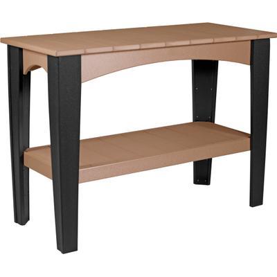 Island Buffet Table Cedar and Black