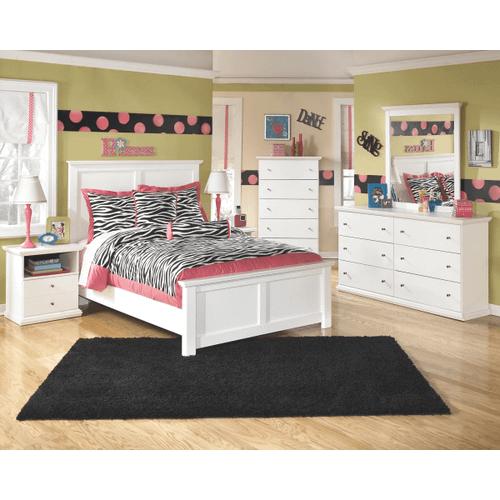Bostwick Shoals- White- Dresser, Mirror, Chest, Nightstand & Full Panel Headboard