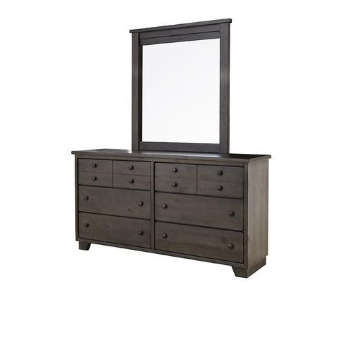 Progressive Furniture - Diego Queen Bed with Mirrored Dresser and Nightstand