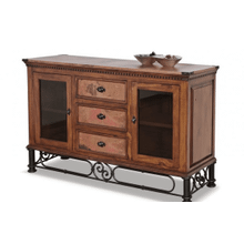 Torreon Iron Base Copper Top Console