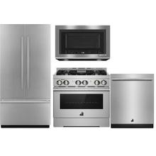 "JENNAIR 36"" BUILTIN FRIDGE AND 30"" GAS RANGE"
