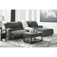 Clonmel - Charcoal - 1 Power Recliner 1 Power Chaise Sectional