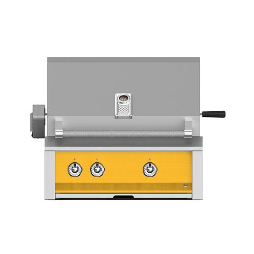 """Hestan - Aspire By Hestan 30"""" Built-In U-Burner, Sear and Rotisserie Grill NG Yellow"""