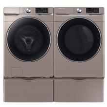 See Details - SAMSUNG Super Speed 4.5 Cu.Ft. Front Load Washer & 7.5 Cu.Ft. Electric Dryer with Pedestals - Champagne