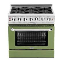 """Culinarian 36"""" Gas Self Clean Range (Pale Green)"""