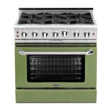 "See Details - Culinarian 36"" Gas Self Clean Range (Pale Green)"