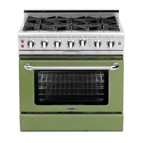 "Capital - Culinarian 36"" Gas Self Clean Range (Pale Green)"