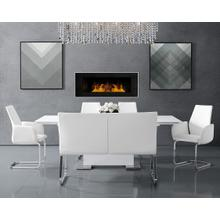 Estella Rectangular Dining Room Set w/ Settee Estella Rectangular Dining Table (White) by Elements Furniture Estella Side Chair (White) (Set of 2) by Elements Furniture Estella Settee (White) by Elements Furniture Estella Arm Chair (White) (Set of 2) by Elements Furniture Estella Rectangular Dining Room Set w/ Settee
