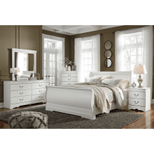 Anarasia - White - 7 Pc. - Dresser, Mirror, Chest, Nightstand & Queen Sleigh Bed