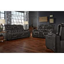 See Details - 739 Manhattan Black Power Leather Reclining Sofa w/DDT and Reclining Loveseat