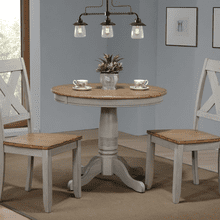 3 Piece Set (Pedestal Table and 2 Chairs)