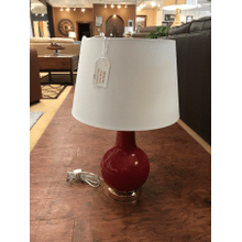 Product Image - Red Ceramic Table Lamp