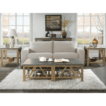 Weatherford - Bunching Coffee Table (Top & Base) - Bluestone Finish