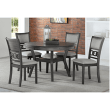 Gia Gray Round Dining Table and 4 Chairs