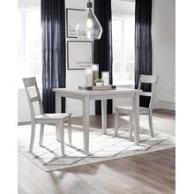 Loratti - Gray - Square Dining Room Table and 2 Side Chairs