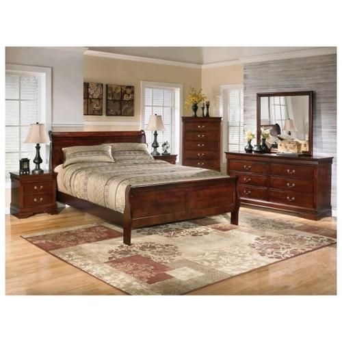 ASHLEY B376-81-96QB Alisdair Louis Philippe Queen Sleigh Bed