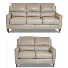 Darkar Stone All Leather Sofa & Loveseat