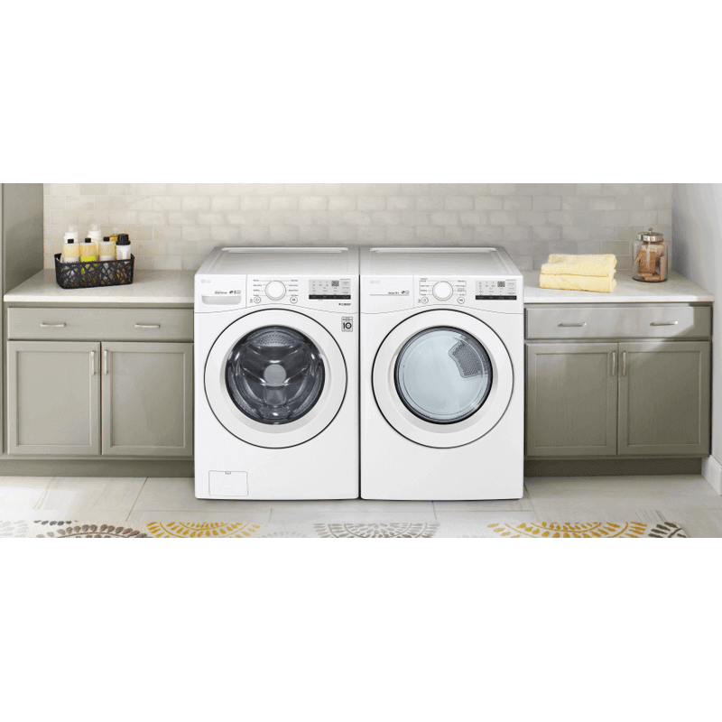 LG 4.5 cu. ft. Ultra Large Front Load Washer & 7.4 cu. ft. Ultra Large Capacity Electric Dryer