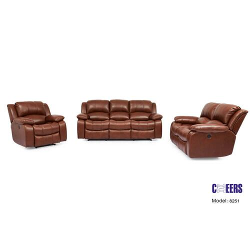 UXW8251M  Sofa, Loveseat and Glider Recliner     ***TOP GRAIN COWHIDE LEATHER***