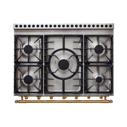 Lacornue Cornufe - Stainless Steel Albertine 90 with Polished Chrome Accents
