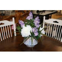See Details - Purple Peonies/ Lilacs