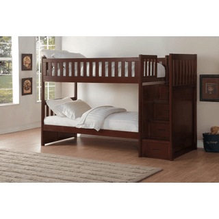 Rowe Bunk Bed Twin on Twin with Reversible Step Storage