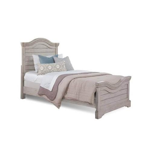 Stonebrook Antique Gray Twin Bed
