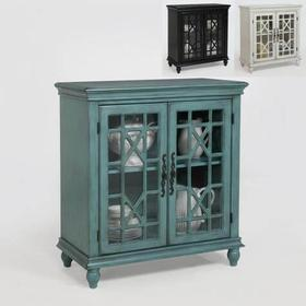 Francesca 2 Door Cabinet-Aqua Blue