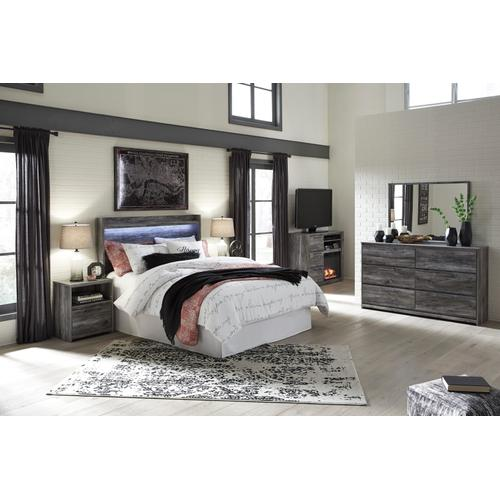 Baystorm - Gray 4 Piece Bedroom Set