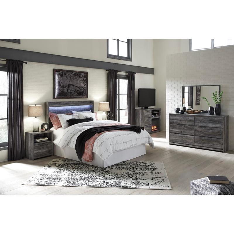 View Product - Baystorm - Gray 4 Piece Bedroom Set