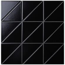 4 Linear Matte Black Triangle Tile Pattern For Floor Designs