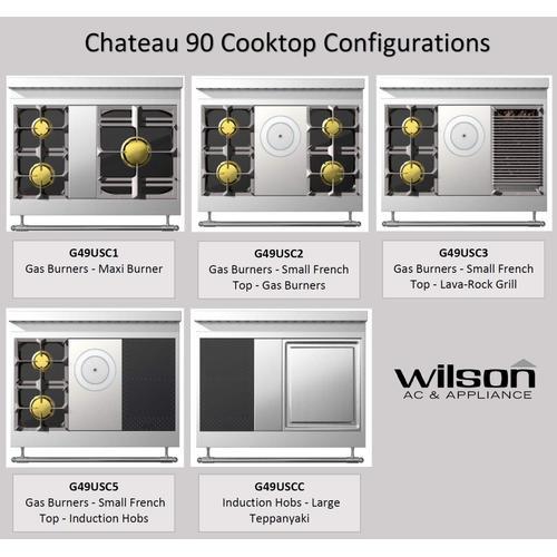Chateau 90 (C1) - 2-Gas Burners - 1-Maxi Burner