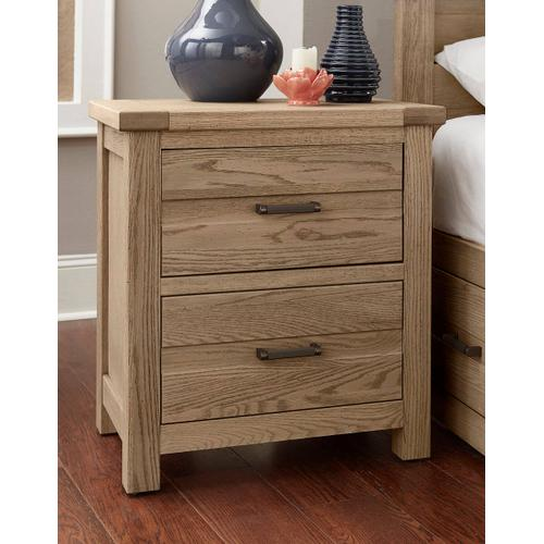 Highlands 2-Drawer Nightstand in Sandstone